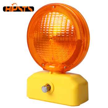 Yellow color high quality led barricade traffic security warning light