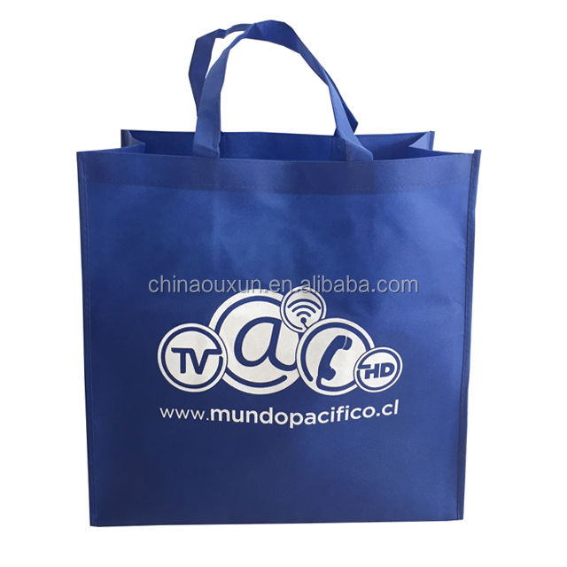 Promotional customized recycled fashional laminated pp non woven bag shopping