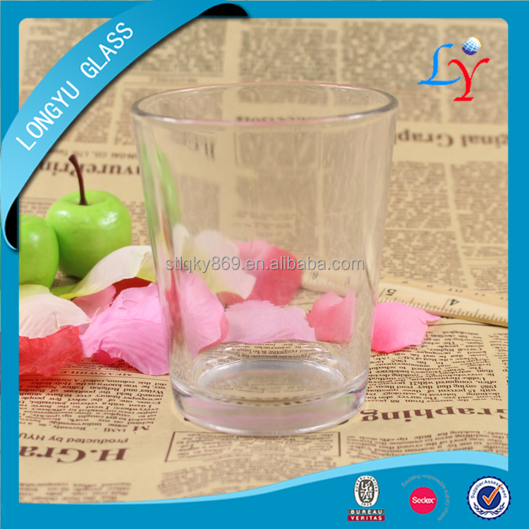 260ml round Longyu factory wholesale cheap glassware cup tequila shot glasses