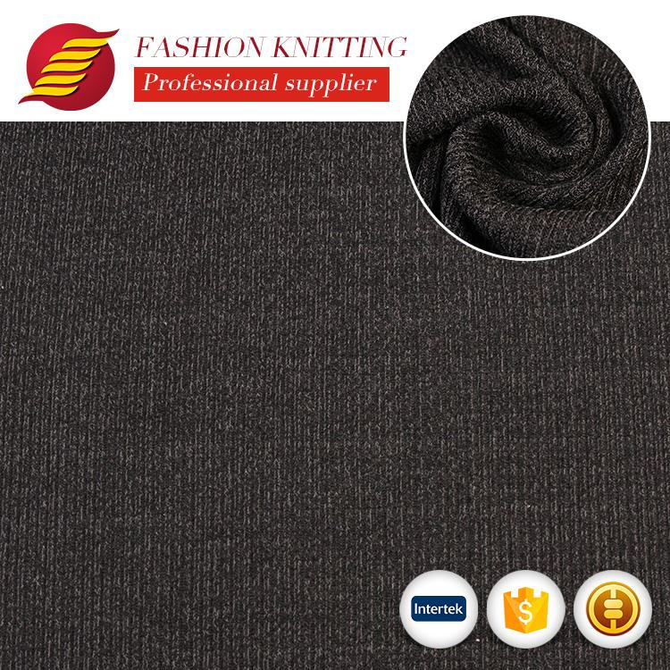 Hot selling elegant cheap professional rib loose fabric for garment