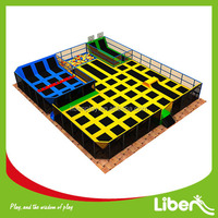 Kindergarden Functional indoor Amusement Playground trampoline Equipment for Kids Playstation D