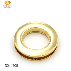 Zinc Alloy round ring eyelet with screw for bag accessories grommet