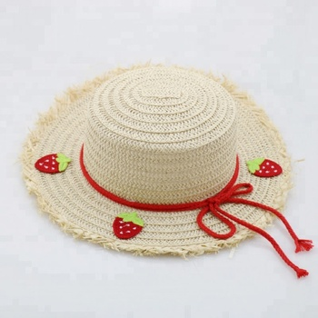 2018 Fashion Kids Straw Hat Flowers And Ribbon Bow Kids Hats ... 57165489a722