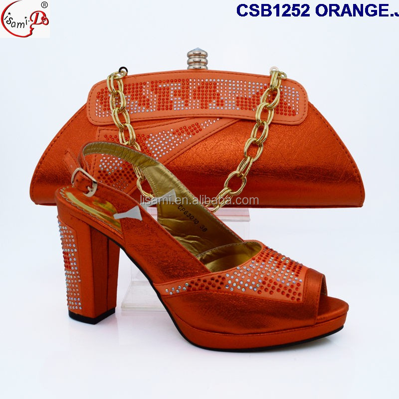 and fashionable ladies arrival CSB1252 bag New wedding color yellow for shoes UpFqf