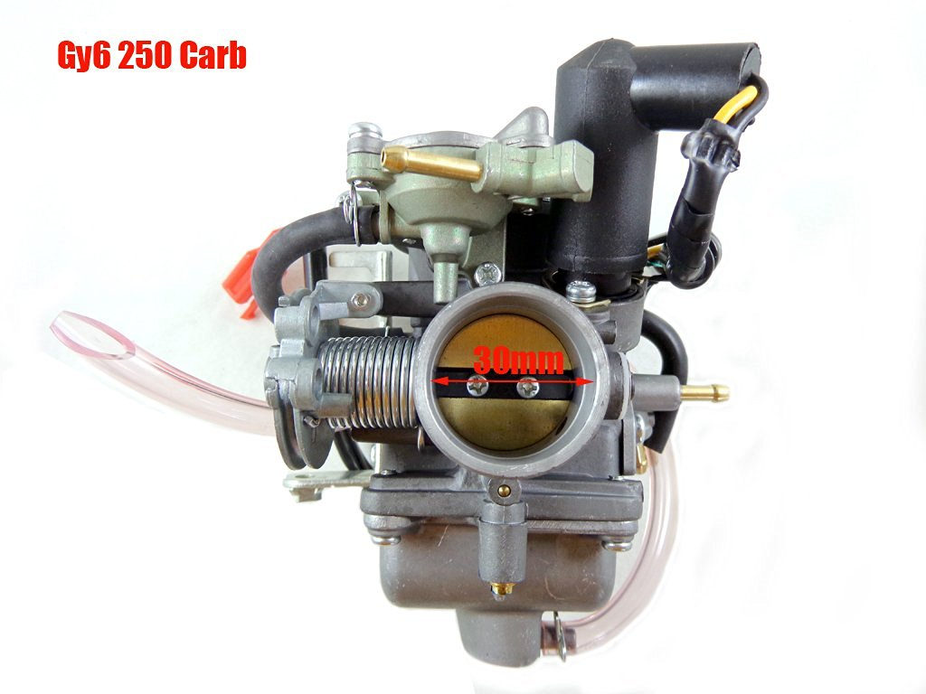 30mm Electric Choke Carburetor for GY6 150cc 250cc CARB ATV Go Kart Scooter Moped Carter Dazon JCL Kinroad Carb