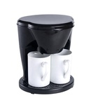 2018 hot selling black color 450 watts power 2 cup electric mini coffee maker with 2 white porcelain cup