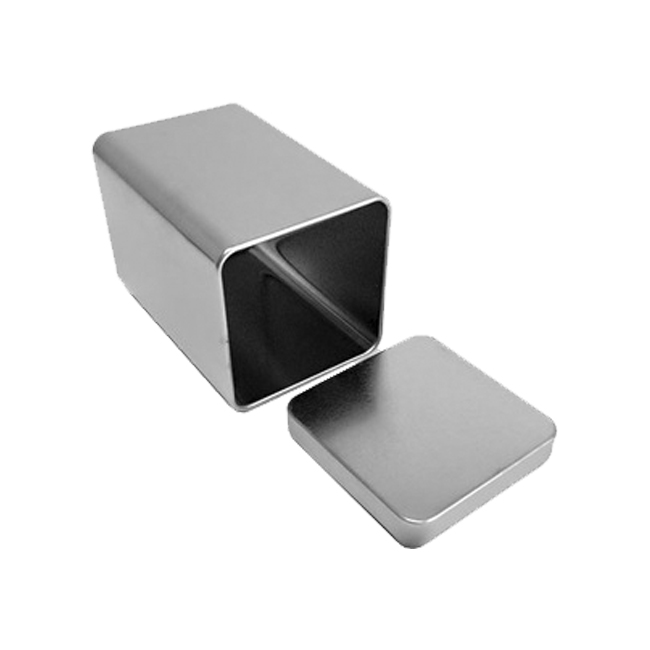 Factory price square metal silver tin airtight tea tin packaging box wholesale