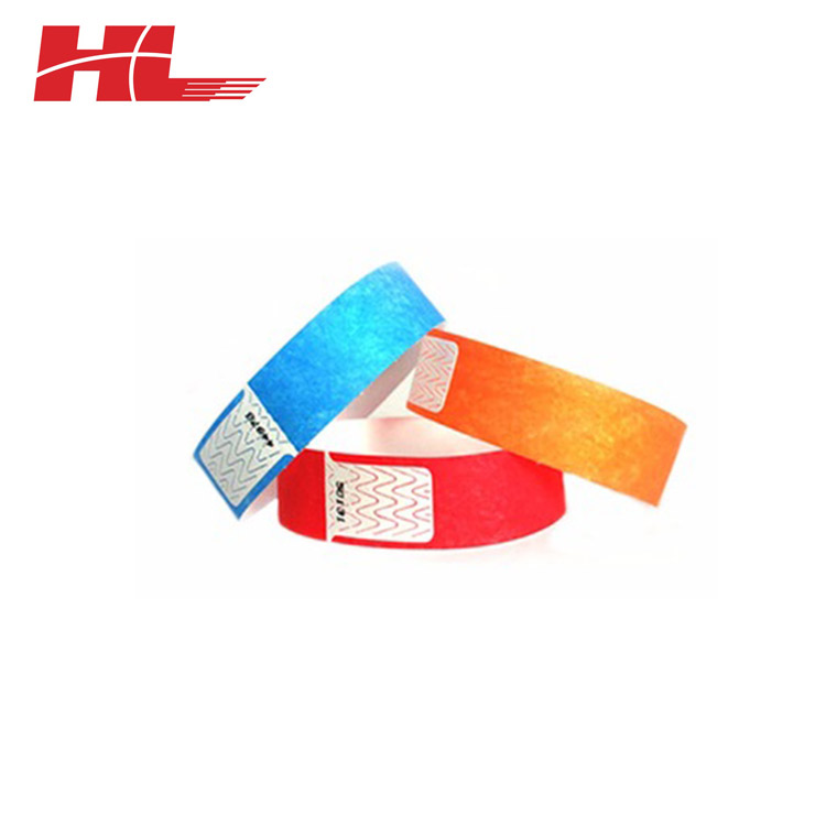2017 Newest Promotional Paper Tyvek Wristband