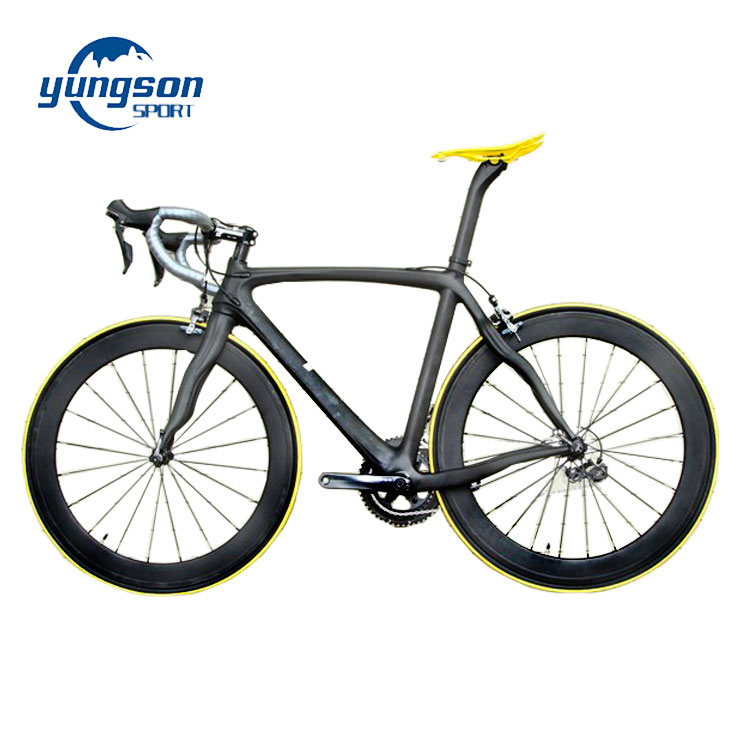 Unidirectionele Prepreg Materiaal Monocoque Duurzaam Carbon Racefiets Customizing Schilderen Logo Road Fiets