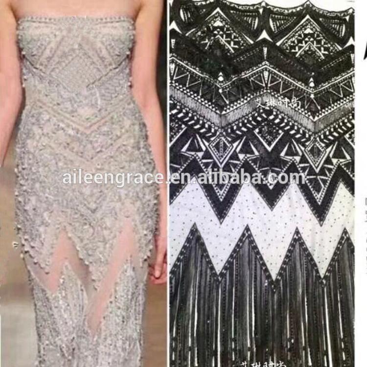 Tela de tejido acordonado para vestidos de mujer