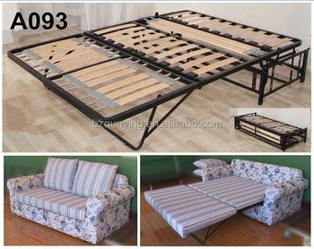 Lastest design pi popolare pieghevole out metallo tubo stecca di legno full size divano telaio - Telaio del letto ...