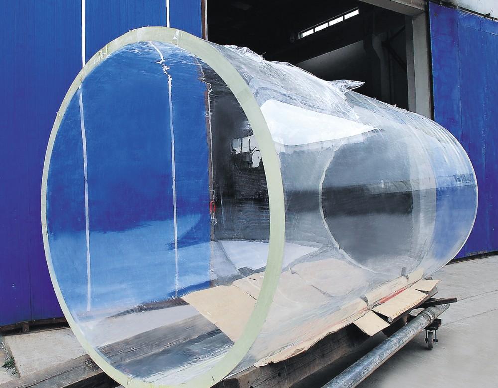 Xc clear plastic cylinder round acrylic fish tank aquarium for Cylindrical fish tank
