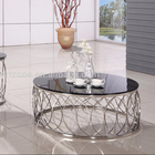 CT31S 2015 tempered glass round modern coffee table for sale