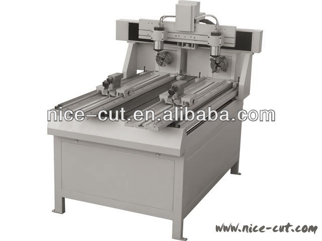 NC - E1118 Multi Head CNC Router with Rotary
