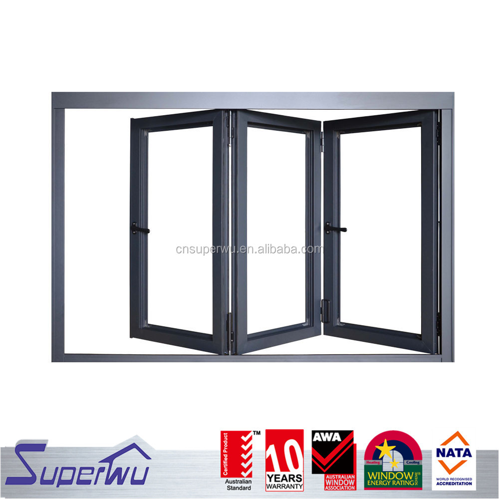 China product tempered glass aluminium electric house folding windows