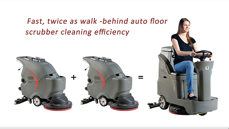 Mini Ride On Professional Electric Floor Cleaning Machine Scrubber GM-AC