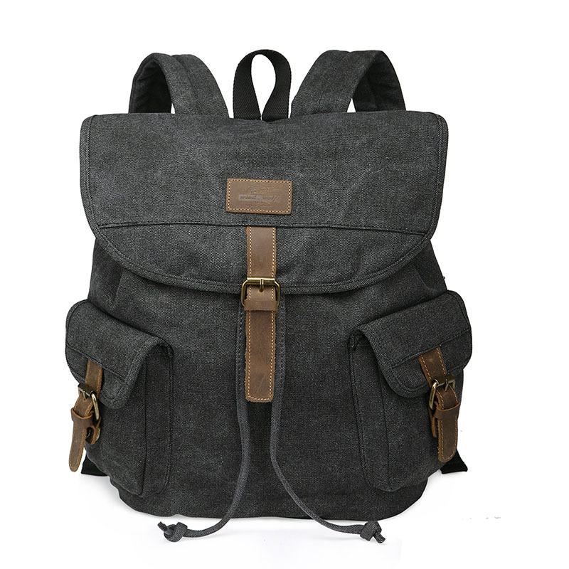 9f24346035 Get Quotations · Wind Wolf Canvas Backpacks Travel School Bags For Men And  Teenage 2 Colors Gray and Black