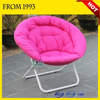 OEM 600D Oxford Strong Fabric Adult Big Moon Chair Round Folding Chair
