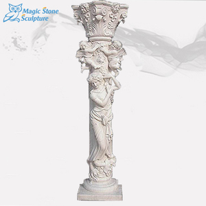 Ornamental marble stone gate pillar design