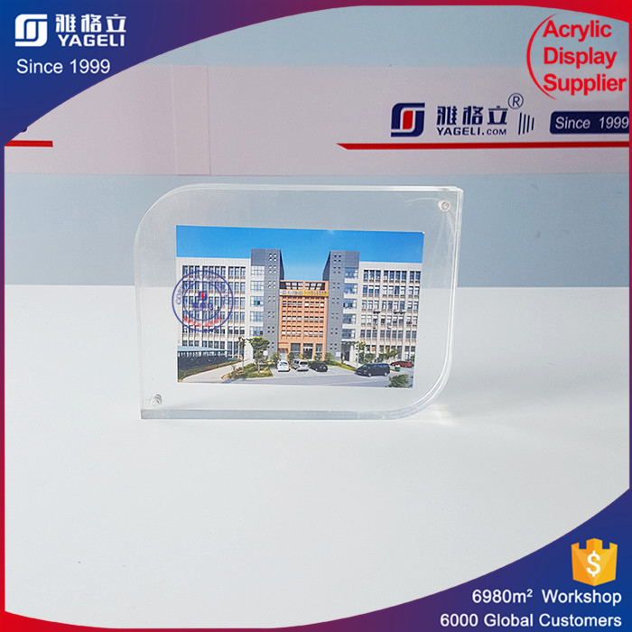 Thick magnet cardboard photo frames picture frame for photo clear acrylic logo block wholesale