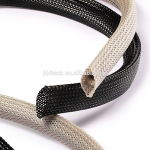 FREE SAMPLE PET Expandable braided sleeve for wire/electrical wire protective sleeves