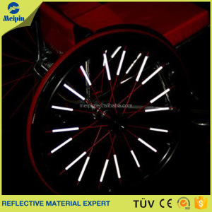 reflective and safety function of bicycle spokes