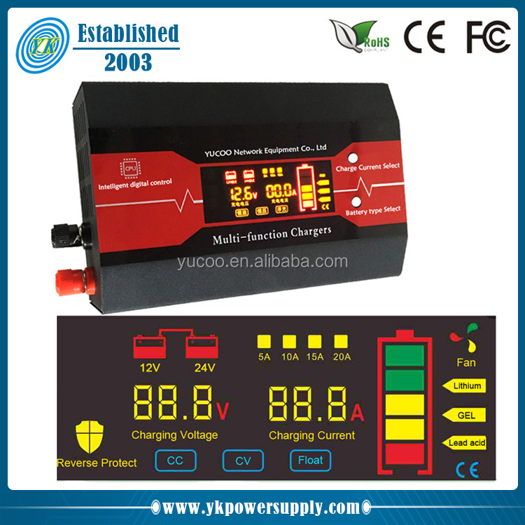 new portable 12v 6ah car lead acid battery charger