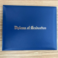 custom diploma certificate cover black paper leather holder