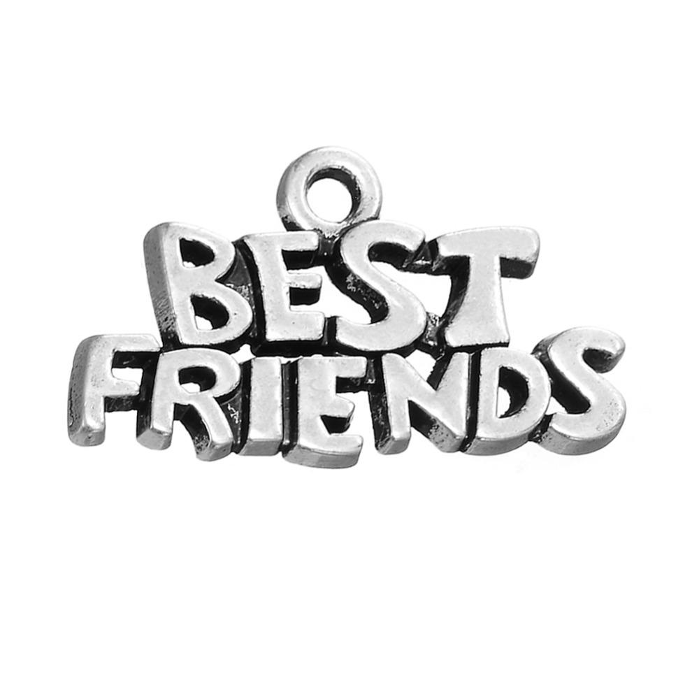 Vintage Style Metal Letter Best Friends Forever Friendship Message