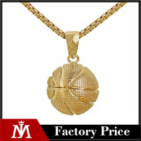 Basketball Men Stainless Steel Pendant Necklace Chain Sports Lover Ball Charm Necklaces Jewelry Fathers Day Gift