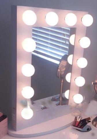 O diodo emissor de luz de 100 * 80CM iluminou o espelho de vaidade do salão de beleza do molho de Hollywood da vaidade com luzes do bulbo
