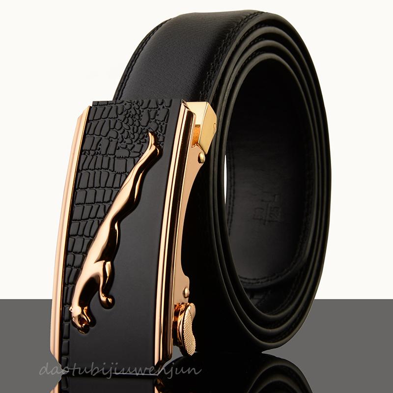 Jaguar Clothing Accessories: New Jaguar Automatic Buckle Men's Belt Genuine Leather