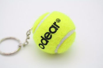 Factory direct hot selling 40mm tennis ball keychain