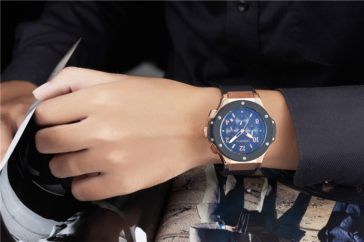 1604 luxury Multifunction Chronograph sport men watch with japan movement waterproof wrist mens watches with hour minute second