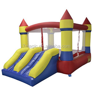 By the Yard YARD Bounce House Dual Slide with Blower Indoor Outdoor Inflatable Bouncer Made of Nylon and Vinyl 12.1'x8.5'x6.9',