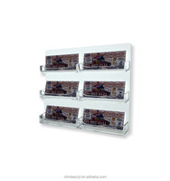 Clear glass pocket wall mountable business card holder display