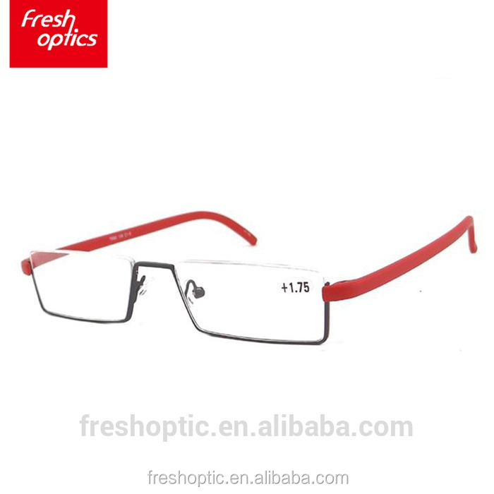 FR0016 Best quality low price half clear frame reading glasses women