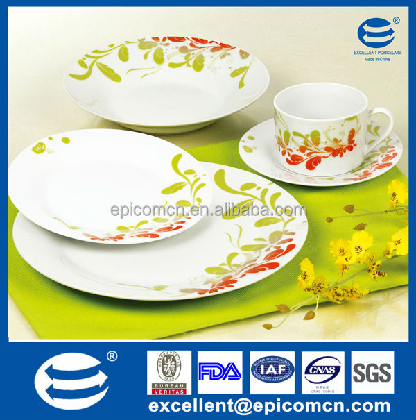 china alibaba factory kitchen utensils in fine porcelain with dinner plate and tea set
