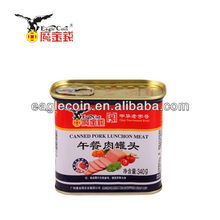 340G Gold Metal Canned Pork Luncheon Meat Best Fine China Brands