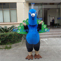 Beautiful personalised peacock mascot costumes for party