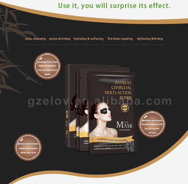 Populaire Huidverzorging Verminderen Donkere Kringen Eye Patch Best Selling Anti-Rimpel Zwarte Bamboe Houtskool Oogmasker