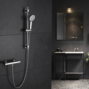 thermostatic shower mixer faucet with slide bar