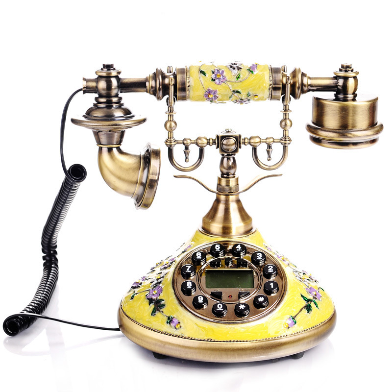 Caller Id Phone Zinc Alloy Luxury Antique Telephone Set For Home Decoration