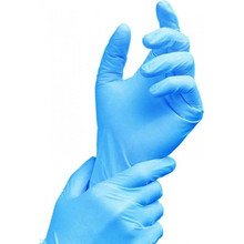 Disposable blue manufacture cheap price medical antistatic nitrile gloves
