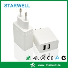 Hot selling 5v 3.1a USB charger 15.5w usb wall charger with CE FCC certification