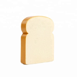 Factory Wholesale PU Antistress Ball Slice Of Bread Shape Food Foam Toy