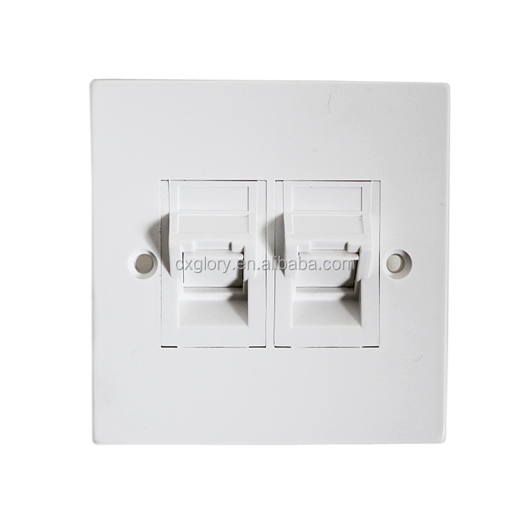 Factory Price High Quality Network Single Port RJ45 Faceplate 86 Type Wall Plate GL-1233