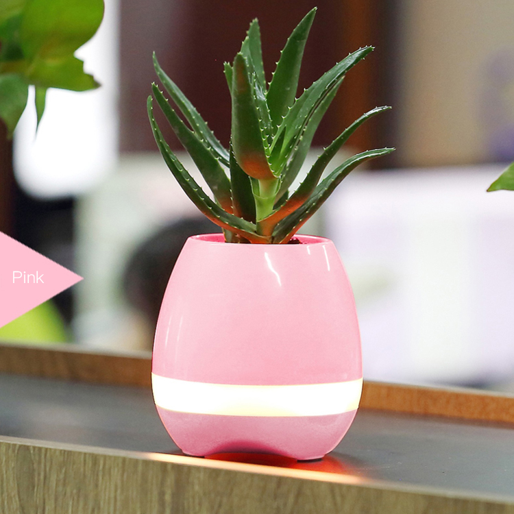 Plant LED flower pot speaker with touch sentitive interesting products 2017