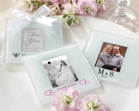 Personalized Frosted Glass Photo Coaster Christmas Gift