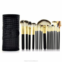 Private label make up borstels foundation <span class=keywords><strong>poeder</strong></span> blush lip oogschaduw cosmetische gepersonaliseerde <span class=keywords><strong>make-up</strong></span> kwasten 18pcs makeup brush set